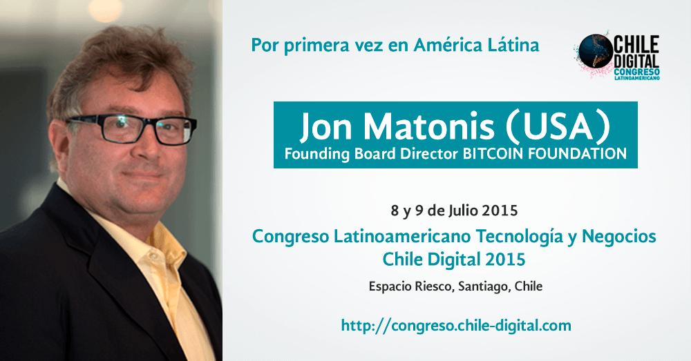 CriptoNoticias Jon Matonis Congreso Latinoamericano Chile Digital