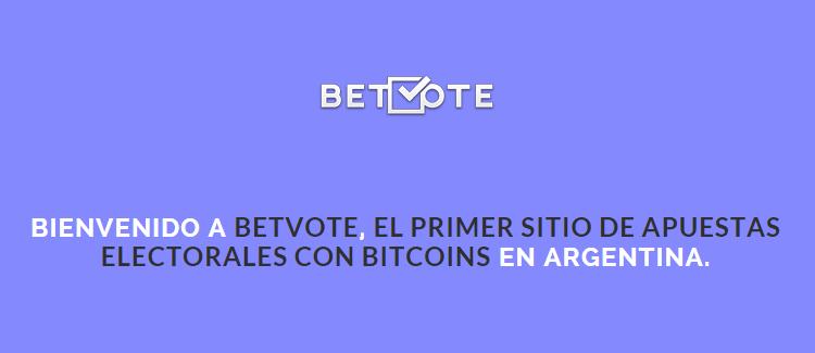 CriptoNoticias Betvote Elecciones Presidenciales Argentina Bitcoin