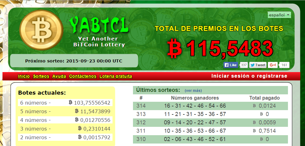 CriptoNoticias YABTCL Juegos Lotería Bitcoin Ventaja
