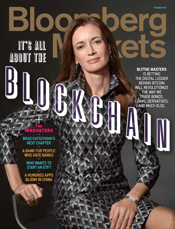 Blythe Masters y Blockchain portada de Bloomberg