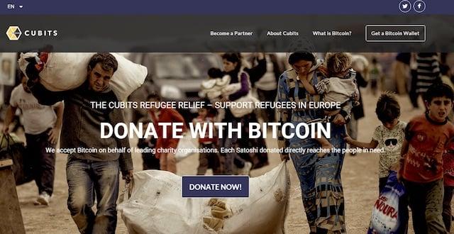 Cubits Donaciones Bitcoin Refugiados Europa