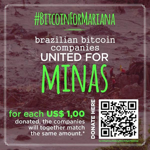 BitcoinForMariana Tragedia Minas Brasil