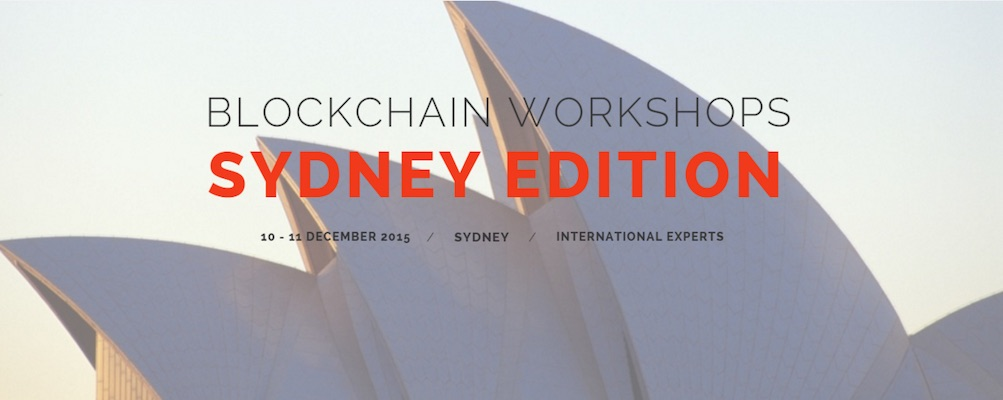 Talleres Blockchain Sydney CommonWealth