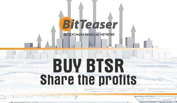 BitTeaser BTSR Publicidad Fichas Blockchain
