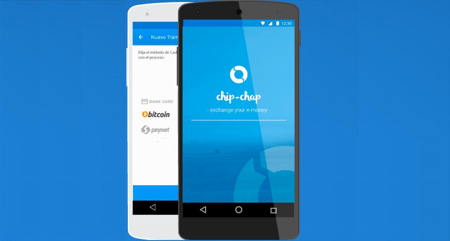 Chip Chap Bitcoin Cartera Aplicación Móvil Bitchain
