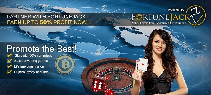 FortuneJack Casino Bitcoin Programa de Afiliados