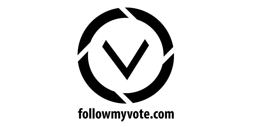 Follow My Vote Logo Campaña Kickstarter Blockchain
