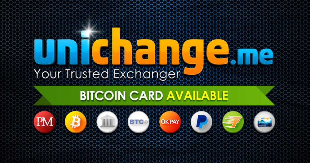 unichange,bitcoin,tarjeta, casa de cambio