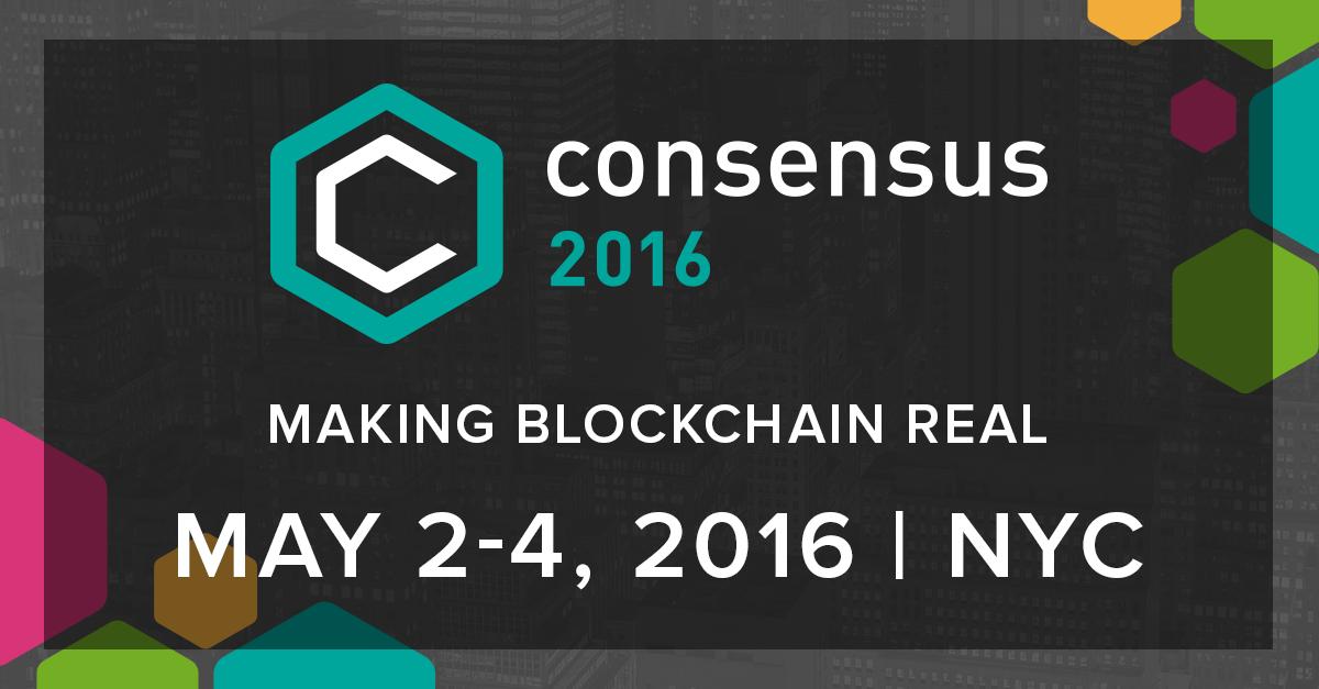 Consensus 2016 Evento Blockchain Tecnologia