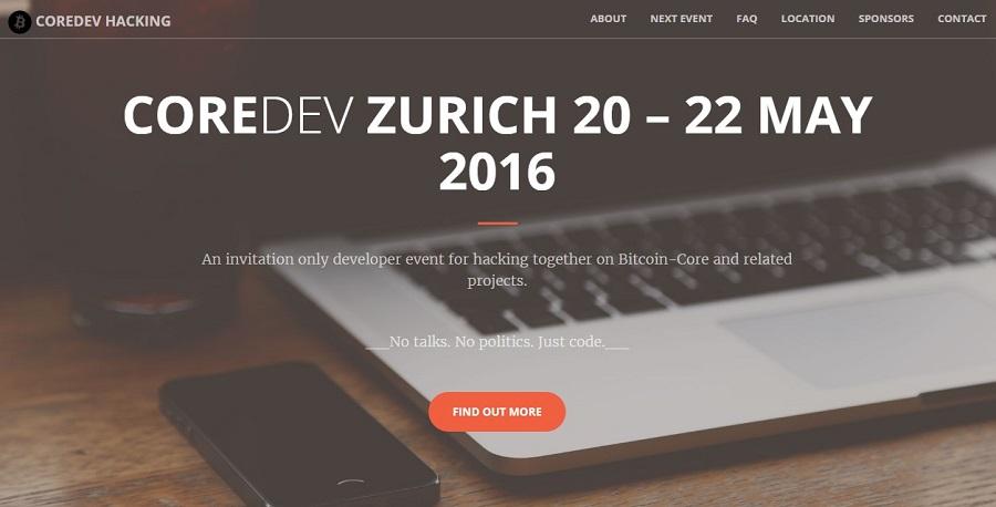 Coredev Zurich Evento BitcoinCore Bitcoin