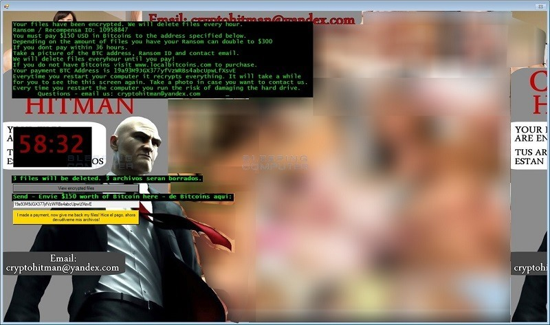 Virus Hitman Ransomware Jigsaw CryptoHitman