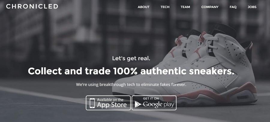 Chronicled Seguridad Autenticidad Blockchain Sistema Zapatos