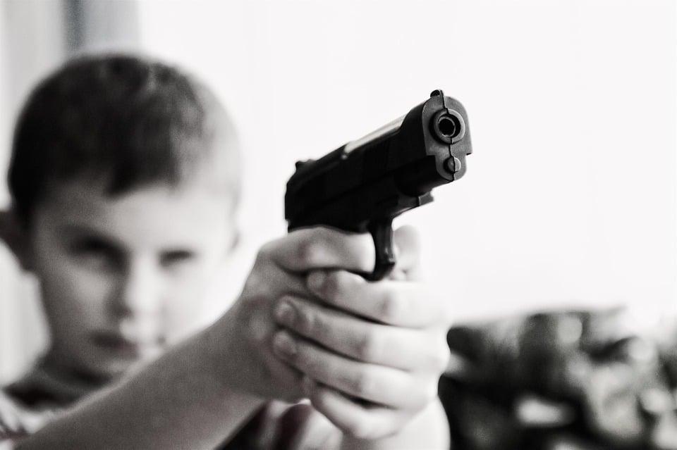 Blocksafe Pistola Disparo Blockchain Fuego
