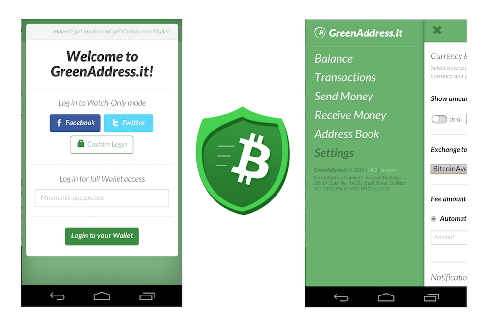 Blockstream Monedero Bitcoin GreenAddress