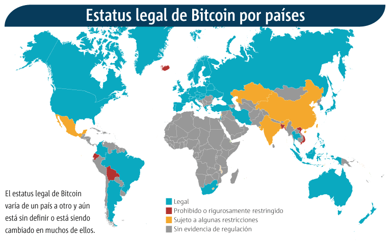 Países-Bitcoin-Estatus-Legal