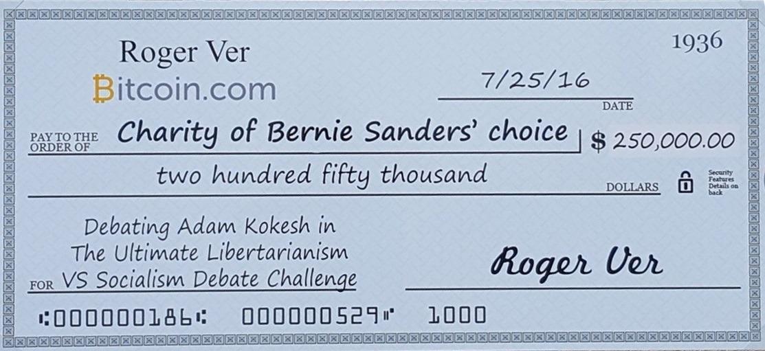 Roger Ver Bernie Sanders Adam Kokesh Debate Bitcoin