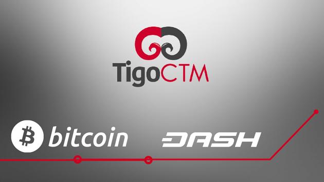 TigoCTM Dash Bitcoin Cajeros Automáticos
