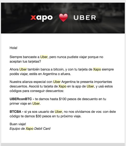 Uber-Xapo-Correo-Electrónico