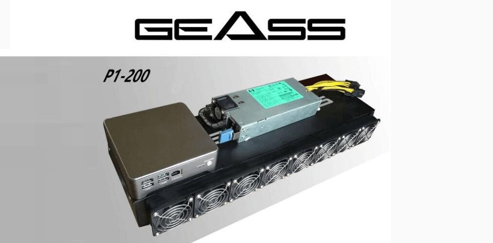 Geass P1-200 Equipo Hardware Minería Criptomonedas