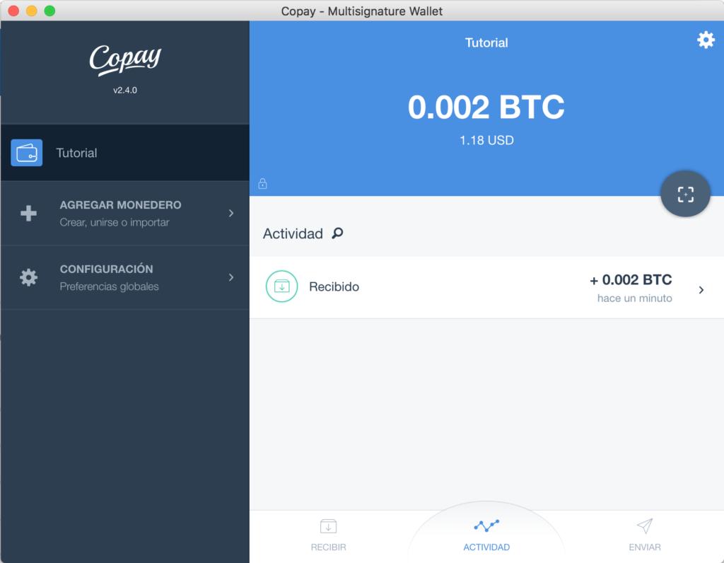Tutorial Copay Saldo Bitcoins