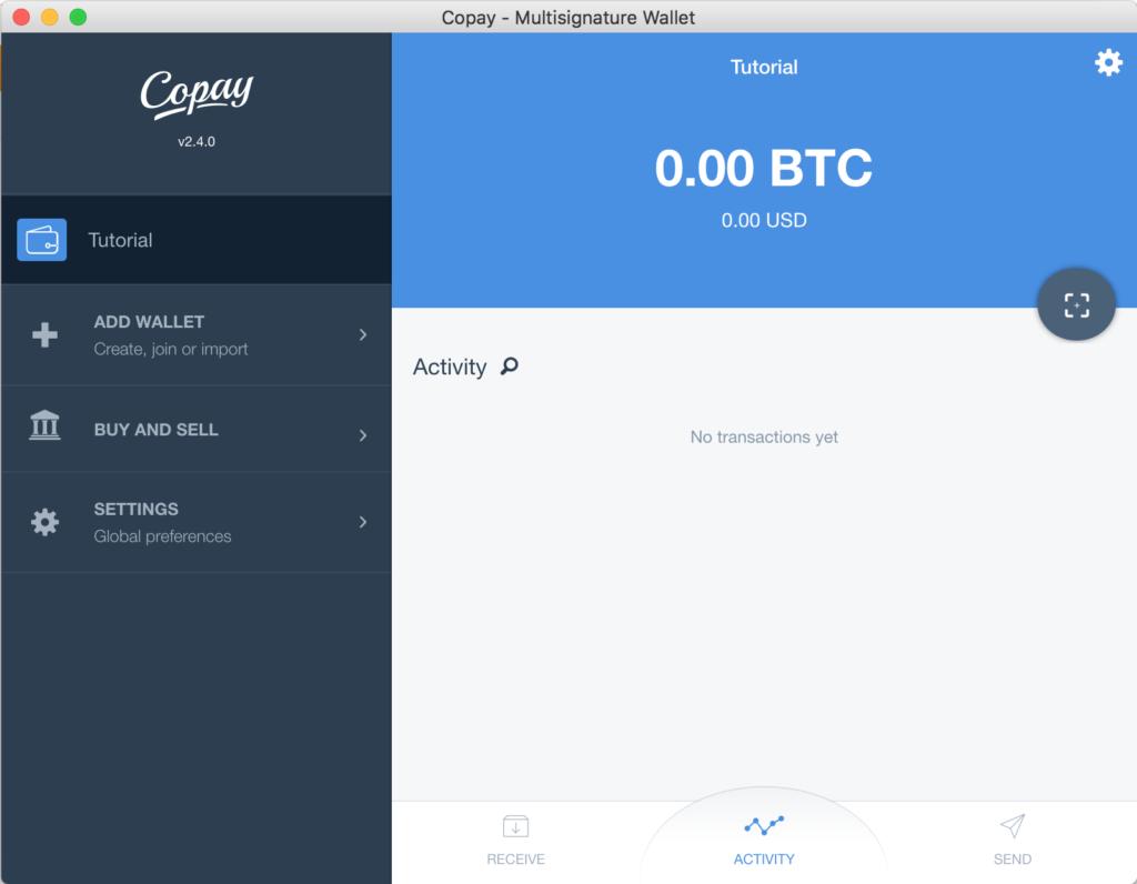 Tutorial Copay Cartera Nueva Bitcoins