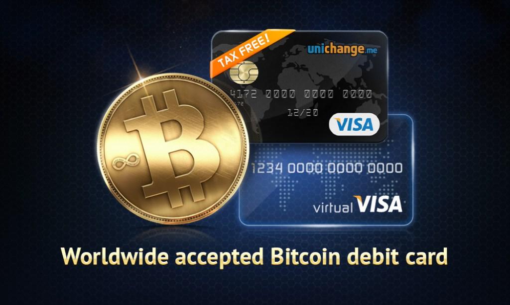 Unichange.me Tarjeta Virtual Bitcoin