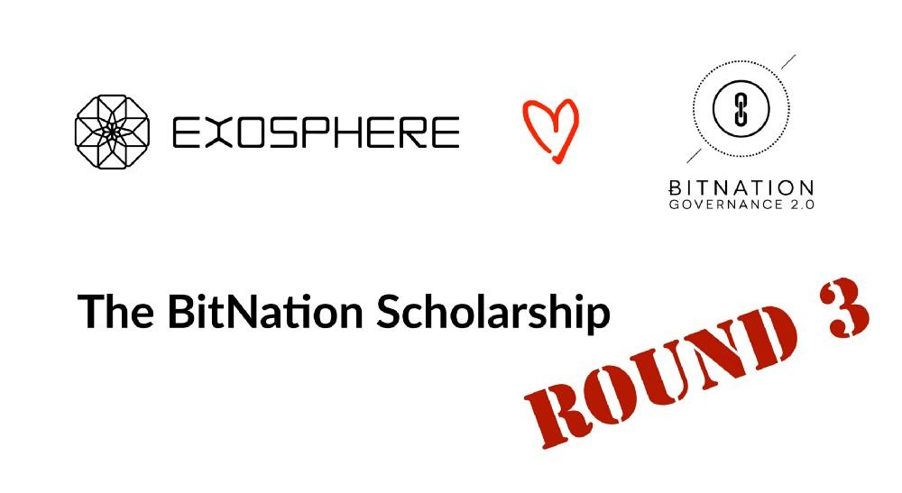 bitnation scholarship seminario exosphere tecnologia blockchain
