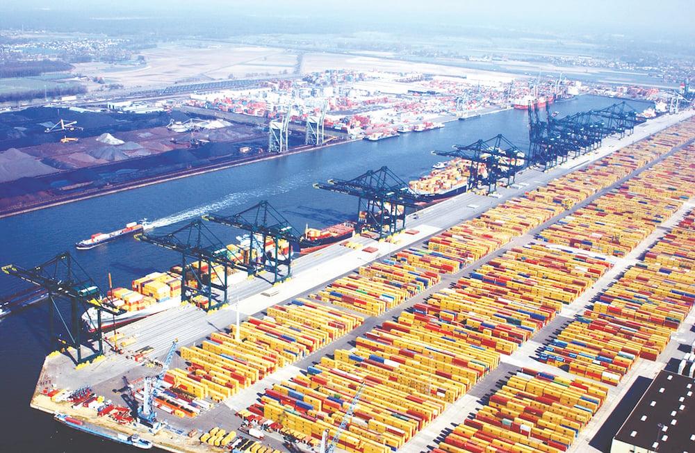 puerto rotterdam blockchain logistica amro bank
