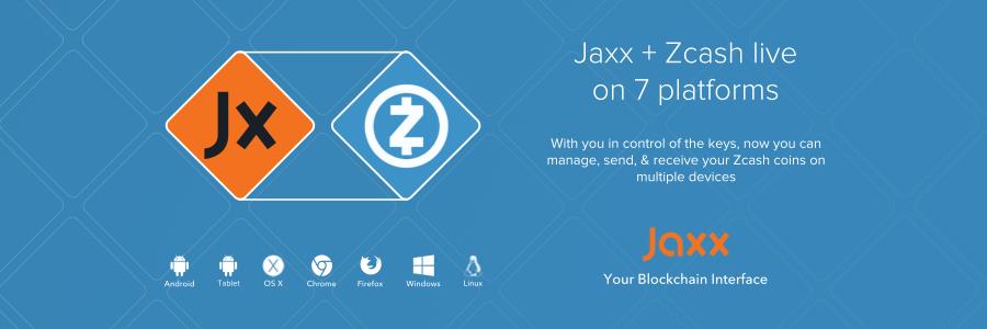jaxx integra zcash cartera criptomoneda anonima