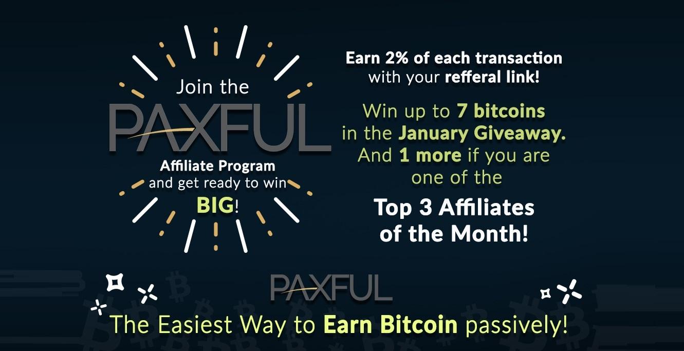 Paxful programa afiliados referidos concurso bitcoins