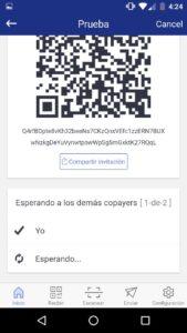 Pantalla de invitación de co-titulares de monederos multifirma en BitPay