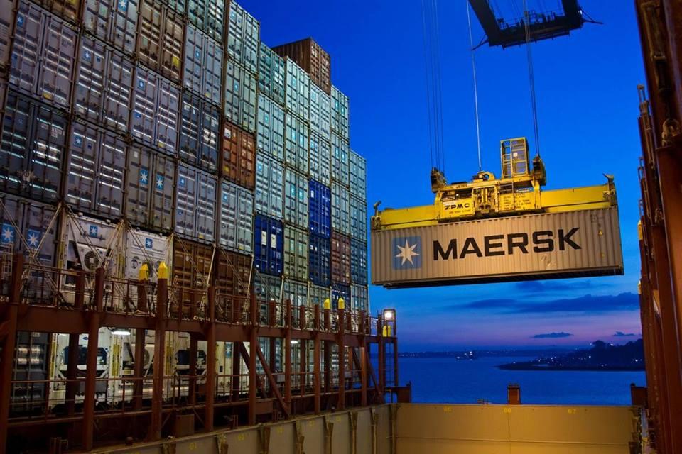 maersk, ibm, envío, mercancía, cadena, suministros, contenedores, blockchain