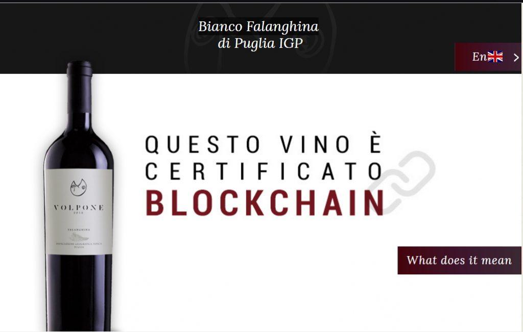 Vino certificado en la blockchain de EY