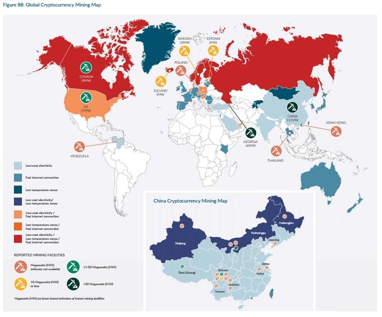 Mining Map Venezuela China Bitcoin