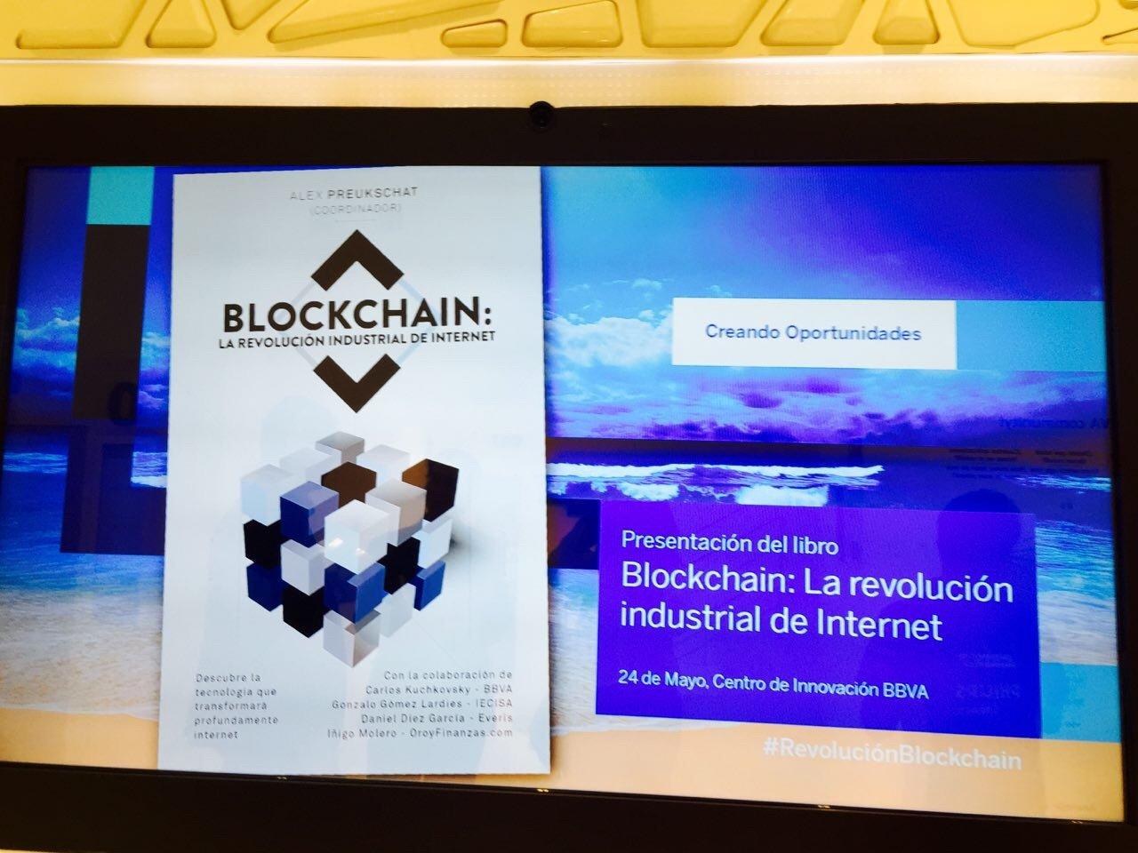 """Presentación del libro """"Blockchain: la revolución industrial en Internet"""" en el Centro de Innovación BBVA"""