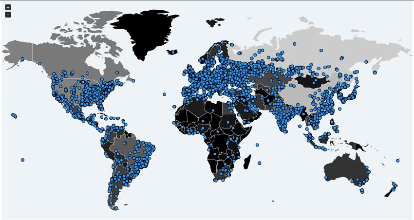 Infecciones por ransomware WannaCry durante las últimas 24h según MalwareTech