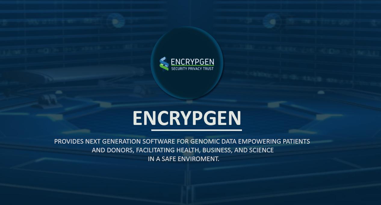 encrypgen, tecnología, blockchain, plataforma, genómica, datos, registro, ciencia