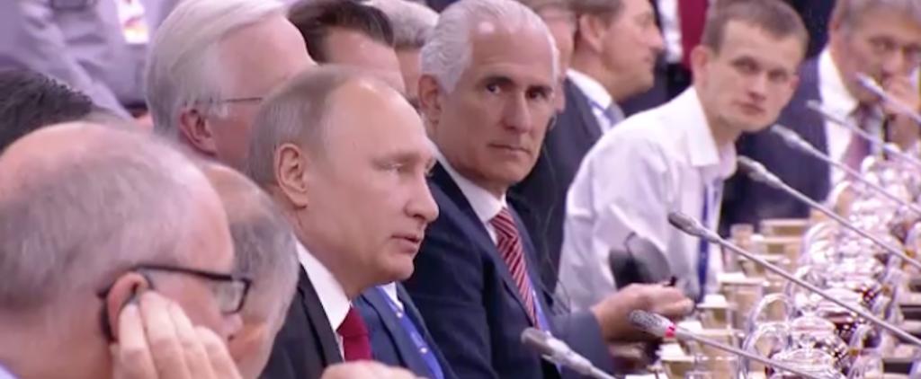Vladimir Putin y Vitalik Buterin compartiendo mesa en el SPIEF. Fuente CryptoTraders.jpg-large