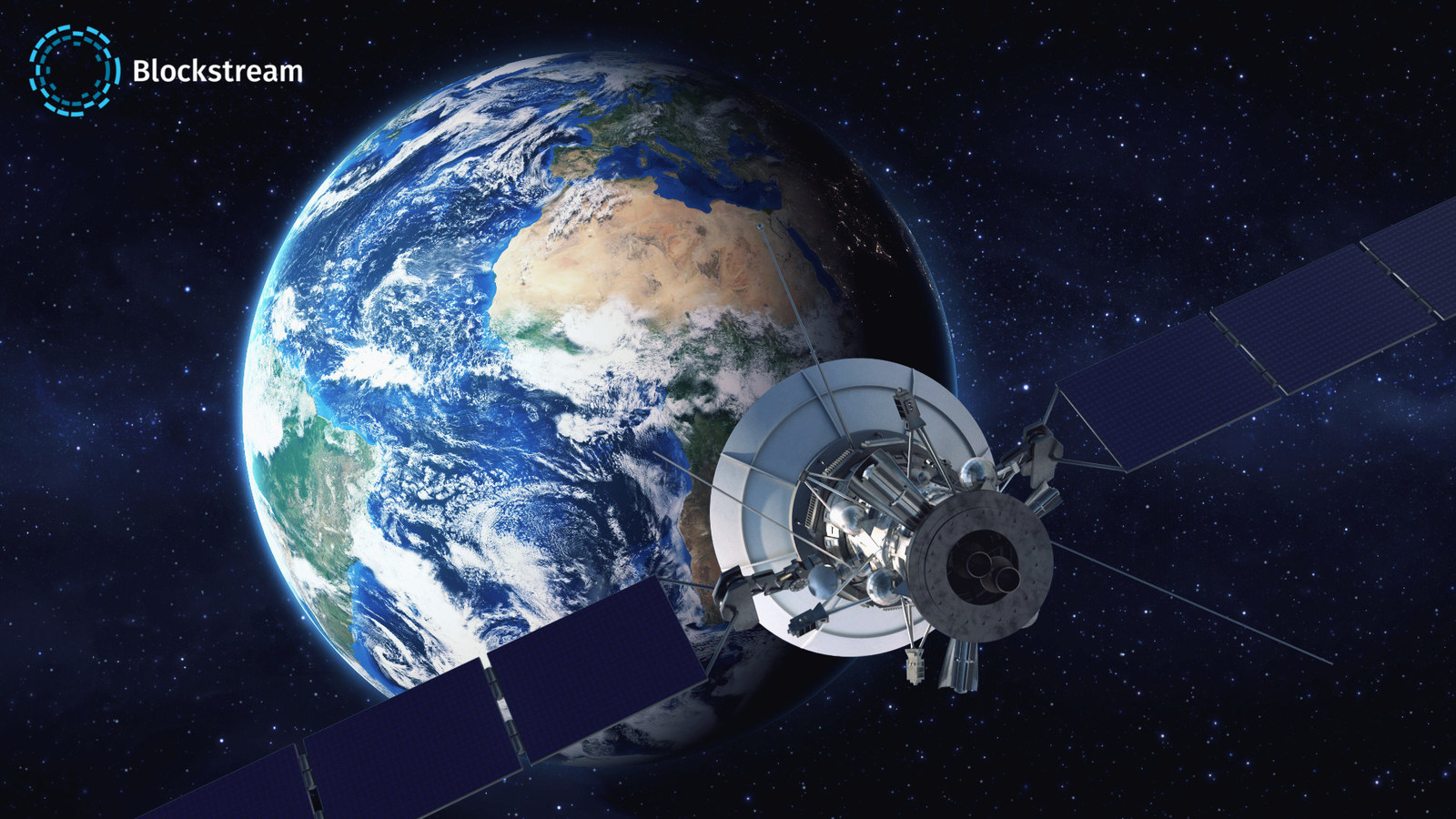 Announcing Blockstream Satellite, a new service that broadcasts real-time Bitcoin blockchain data from satellites in space to almost everyone on the planet (PRNewsfoto/Blockstream)