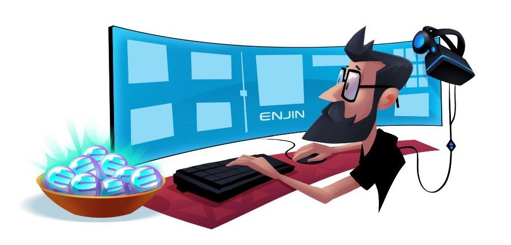 enjin, ico, minecraft, juegos, blockchain