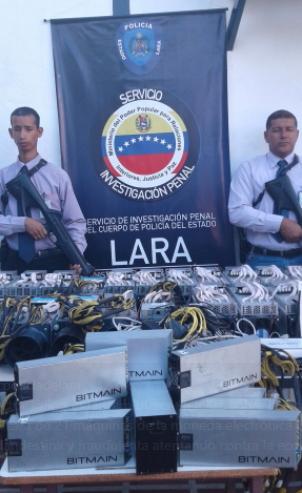 Incautación de mineros en el estado Lara. Fuente Policía de Lara