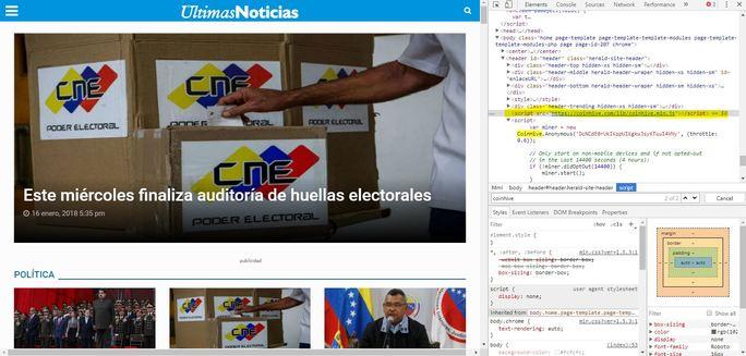minería-coinhive-ultimas noticias-venezuela