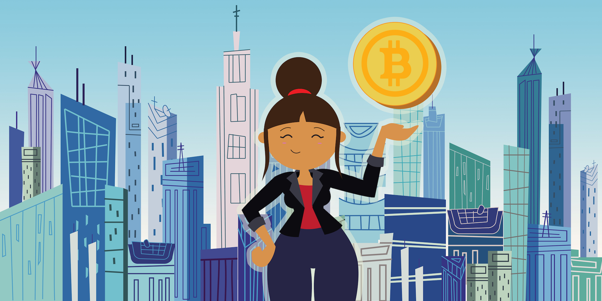 Blockchain bitcoin mujeres criptomonedas