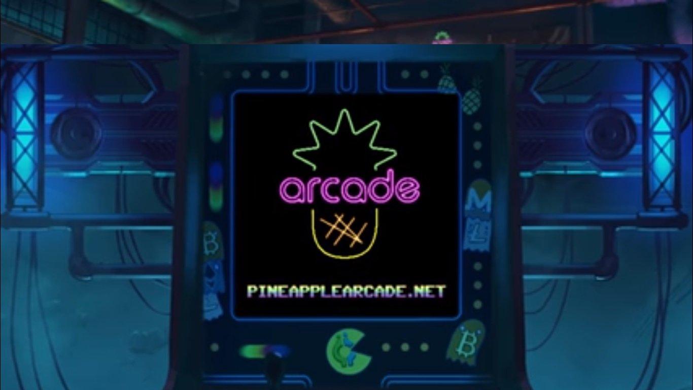 the pinapple arcade-the pinapple fund-neon district-juegos-ethereum-blockchain-criptomonedas