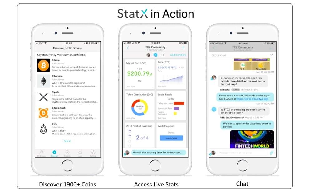 StatX-Mensajeria Cripto