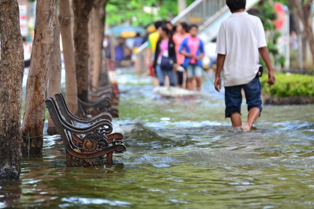 Flood in Bangkok,2011.