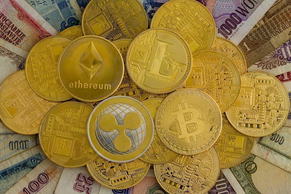 Litecoin Bitcoin Ripple Ethereum