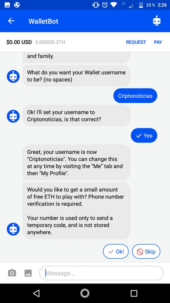 Coinbase Wallet username CriptoNoticias