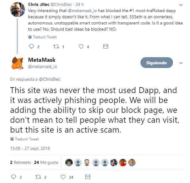 metamask-tweet-dapp-estafa
