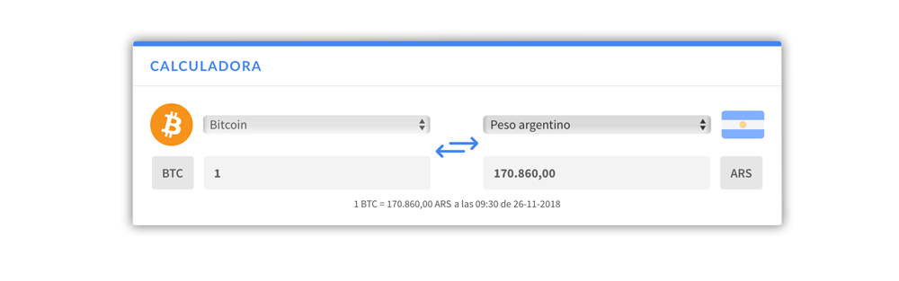 Calculadora Conversion Fiat Criptomoneda
